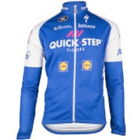 Quick-Step Kids Long Sleeve Jersey - Blue/White - M/12 Years