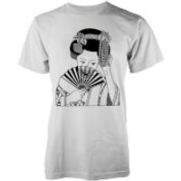 Abandon Ship Men's Skull Geisha T-Shirt - White - M - White