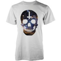 Abandon Ship Men's Galaxy Skull T-Shirt - White - XL - White
