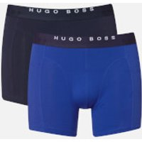BOSS Hugo Boss Mens 2 Pack Print Boxer Briefs - Open Blue - S - Blue