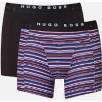 BOSS Hugo Boss Mens 2 Pack Print Boxer Briefs - Open Blue - S - Blue