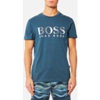 BOSS Hugo Boss Mens Large Logo T-Shirt - Navy - M - Navy