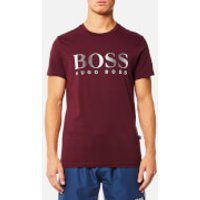 BOSS Hugo Boss Mens Large Logo T-Shirt - Dark Red - S - Burgundy
