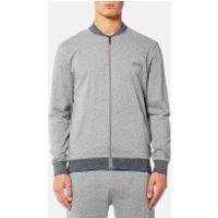 BOSS Hugo Boss Mens Authentic College Jacket - Medium Grey - L - Grey
