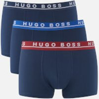 BOSS Hugo Boss Men's 3 Pack Trunks - Blue - XL - Blue