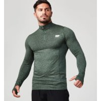Seamless 1/4 Zip Top - S - Green