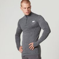 Myprotein Men's Seamless Long Sleeve 1/4 Zip Top - Teal, L