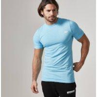 Seamless Short Sleeve T-Shirt - S - Blue