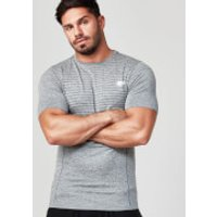 Seamless Short Sleeve T-Shirt - S - Blue