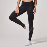 Heartbeat Full Length Leggings (Mesh) - XS - Black