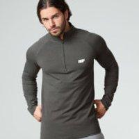 Performance Long-Sleeve 1/4 Zip-Top - XL - Grey