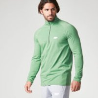 Performance Long Sleeve 1/4 Zip Top - S - Green