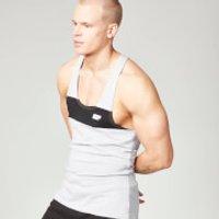 Stripe Stringer Vest - M - Grey