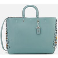 Coach 1941 Women's Colourblock Linked Leather Detail Rogue Tote Bag - Steel Blue Multi
