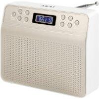 Akai DYNMX Portable DAB Radio with LCD Screen - Champagne
