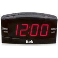 iTek Senior Big Button Jumbo LED Alarm Clock Radio - Black