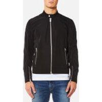 BOSS Orange Mens Olawton Nylon Biker Jacket - Black - L/EU 50 - Black