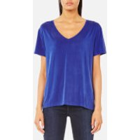Samsoe & Samsoe Women's Siff V Neck T-Shirt - Surf The Web - M - Blue