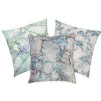 Marble Print Cushion - Green Marbles - Green Marble 3