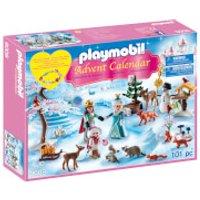 Playmobil Royal Ice Skating Trip Advent Calendar with Children's Bracelet (9008) - Skating Gifts