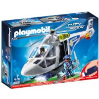Playmobil City Action Police Helicopter with LED Searchlight (6921) - Helicopter Gifts
