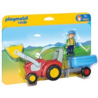 Playmobil 1.2.3 Tractor with Trailer (6964) - Playmobil Gifts