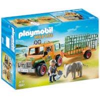 Playmobil Wildlife Ranger's Truck with Elephant (6937) - Wildlife Gifts