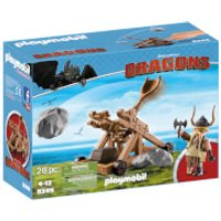 Playmobil How to Train Your Dragon: Gobbver the Belch with Catapult (9245) - How To Train Your Dragon Gifts