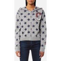 Marc-Jacobs-Womens-Hoody-Star-Print-Sweatshirt-Grey-Melange-M-Grey