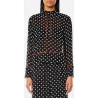 Ganni Women's Monette Georgette Shirt - Black - EU 38/UK 10 - Black