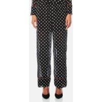 Ganni Women's Monette Georgette Trousers - Black - EU 36/UK 8 - Black