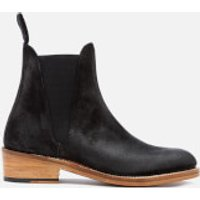 Grenson Women's Nora Burnished Suede Chelsea Boots - Black - UK 4 - Black