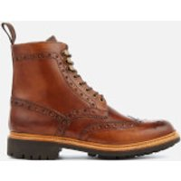 Grenson Men's Fred Hand Painted Leather Commando Sole Lace Up Boots - Tan - UK 8 - Tan
