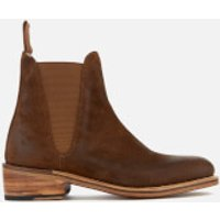 Grenson Women's Nora Burnished Suede Chelsea Boots - Snuff - UK 3 - Tan