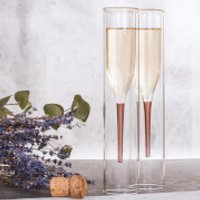 Soiree Inside Out Champagne Flutes - Inside Out Gifts