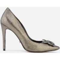 Dune Womens Breanna Suede Court Shoes - Pewter - UK 5 - Silver