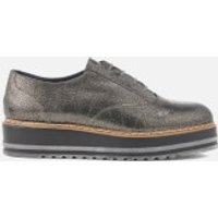 Dune Women's Follow Leather Oxford Shoes - Pewter - UK 7 - Silver