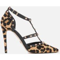 Dune Womens Daenerys T-Bar Court Shoes - Leopard - UK 4