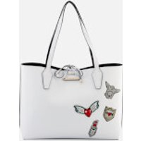 Guess Womens Bobbi Inside Out Tote Bag - White/Black