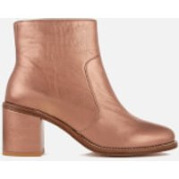PS by Paul Smith Women's Luna Leather Heeled Ankle Boots - Copper Metallic - UK 4 - Gold