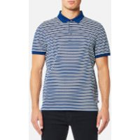 Michael Kors Mens Stripe Jacquard Polo Shirt - Marine Blue - S - Blue