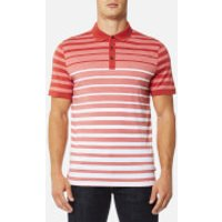 Michael Kors Mens Engineered Birdseye Polo Shirt - Spice - XL - Red