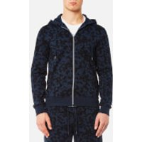 Michael Kors Men's Subtle Camo Zip Hoody - Midnight - XL - Blue