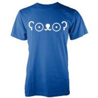 Men's Cute Bear Jemoticon T-Shirt - XXL - Blue - Cute Gifts