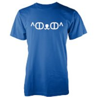 Men's Cute Cat Jemoticon T-Shirt - XXL - Blue - Cute Gifts