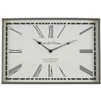 Fifty Five South Churchill Wall Clock - Stainless Steel/Glass