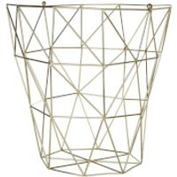 Fifty Five South Vertex Iron Wire Storage Basket - Gold Finish