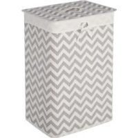 Fifty Five South Kankyo Bamboo Laundry Hamper - White/Grey Chevron - Hamper Gifts