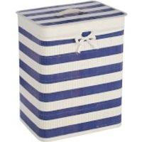 Fifty Five South Kankyo Bamboo Nautical Laundry Hamper - Blue/White