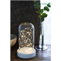 Sirius Bella Glass Dome with Timer - Clear/White